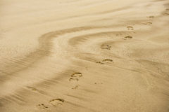 Sand footprint Royalty Free Stock Image