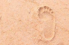Sand Footprint Stock Photography