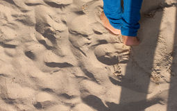 Sand and foots Royalty Free Stock Photo