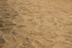 Sand With Footsteps Royalty Free Stock Photo