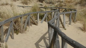 Sand And Footsteps On Pathway Stock Photography