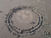Sand-Formen Stockfoto