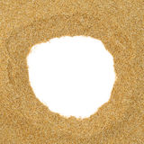 Sand frame Royalty Free Stock Image