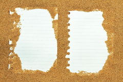 Sand frame note Royalty Free Stock Image