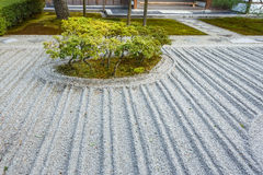 Sand garden at Ginkaku-ji temple in Kyoto Stock Photo