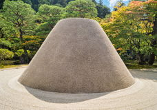 Sand garden at Ginkakuji Silver Pavilion - a Zen temple along Kyoto`s eastern mountains. Higashiyama stock photos