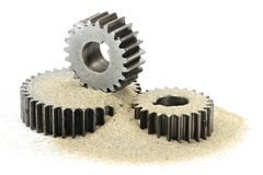 Sand in the gears Royalty Free Stock Photo