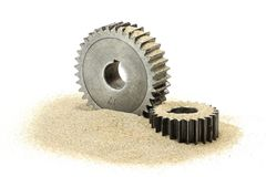 Sand in the gears Royalty Free Stock Image