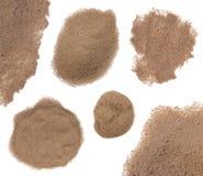 Sand getrennt auf Weiß Stockbilder