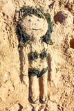 Sand girl. Stock Photos