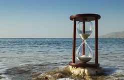 Sand-glass on the beach, Red Sea Stock Photo
