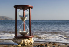 Sand-glass on the beach, Red Sea Royalty Free Stock Image