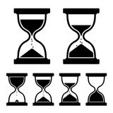 Sand Glass Clock Icons Set. Vector Royalty Free Stock Photos