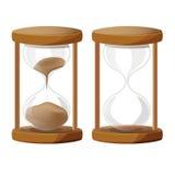 Sand Glass Time Clock. Wood vector vector illustration