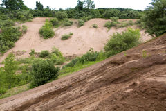 Sand and gravel deposit, legacy of the last glaciation. Royalty Free Stock Photo