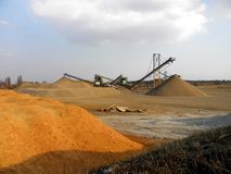 Sand mining Stock Photo