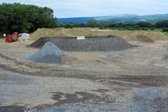Sand and Gravel Pit Stock Images