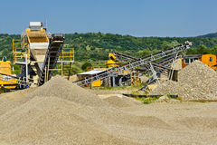Sand and gravel production Royalty Free Stock Photography