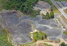 Sand and gravel quarry Stock Images