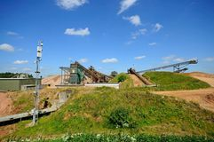 Sand and gravel quarry, Alrewas. Stock Photos