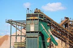 Sand and gravel quarry, Alrewas. Royalty Free Stock Photos