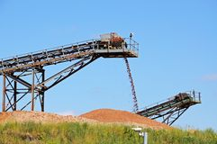 Sand and Gravel quarry, Alrewas, UK. Royalty Free Stock Photography