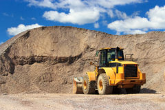 Sand and gravel site Royalty Free Stock Photo