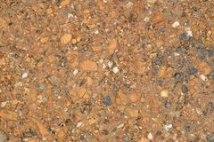 Sand gravel and soil closeup . Stock Images