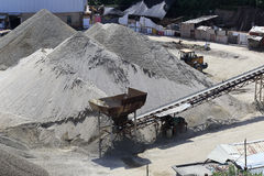 Sand and gravel yard Stock Photography