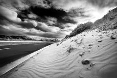 Sand. The great landscape in winter royalty free stock photography