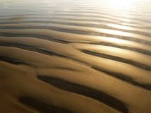 Sand grooves. Texture image of grooves formed in sea sand Royalty Free Stock Photo