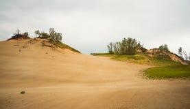 Sand-Hügel bei Waren Dunes Park Lizenzfreies Stockfoto