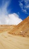 Sand-Hügel am Steinbruch Lizenzfreie Stockfotos