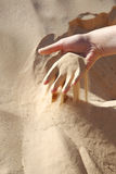 Sand in the hand Royalty Free Stock Images
