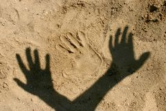 Sand_hand Royalty Free Stock Photos
