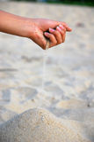 Sand and hand Royalty Free Stock Photography