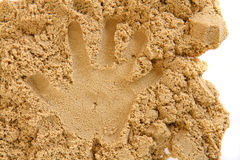 Sand hand print Stock Photo