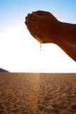 Sand in the hands Royalty Free Stock Photos