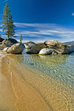 Sand harbor. State park on the shores of Lake Tahoe, Nevada Royalty Free Stock Images