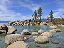 Sand Harbor Boulders. Sand Harbor offers hiking trails and scenic overlooks where naturalists, photographers and hikers can take in the splendor of boulder Stock Photography
