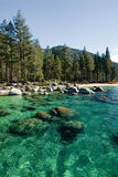 Sand harbor clear waters. Sand harbor state park on the shores of Lake Tahoe, Nevada Royalty Free Stock Photos