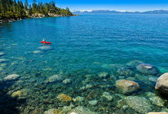Sand Harbor - Lake Tahoe-Nevada State Park. Sand Harbor Lake Tahoe-Nevada State Park has a beautiful blue green shore line with lots of lake activities Stock Photos