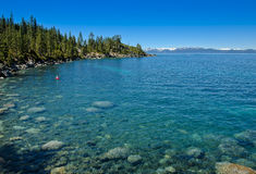 Sand Harbor - Lake Tahoe-Nevada State Park. Sand Harbor Lake Tahoe-Nevada State Park has a beautiful blue green shore line with lots of lake activities Stock Image