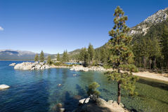 Sand harbor landscape. Sand harbor state park on the shores of Lake Tahoe, Nevada Stock Photos