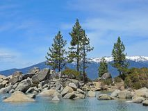 Sand Harbor Charm. Sand Harbor offers hiking trails and scenic overlooks where naturalists, photographers and hikers can take in the splendor of boulder studded Royalty Free Stock Images