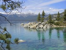 Sand Harbor Rapture. Sand Harbor offers hiking trails and scenic overlooks where naturalists, photographers and hikers can take in the splendor of boulder Stock Photography