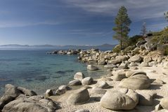 Sand harbor state park. Lake Tahoe,Nevada royalty free stock images