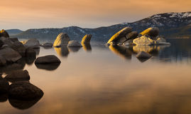 Sand Harbor Tahoe Sunset Stock Photo