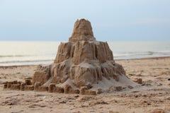 Sand hav, slott, sommar, ferie Arkivbild