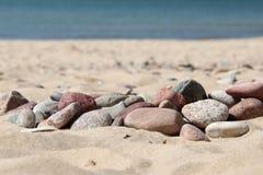 Sand hav, sten, sommar, ferie Royaltyfri Fotografi
